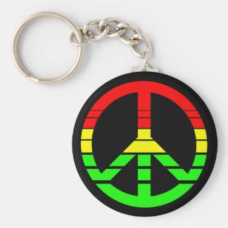 Porte-clés Porte - clé de paix de Rasta