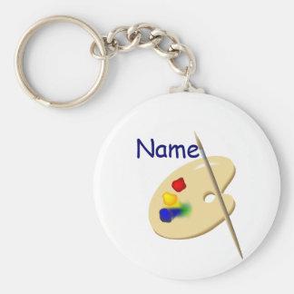 Porte-clés Porte - clé de palette d'artiste de couleur