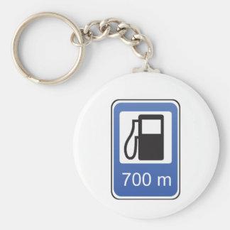 Porte-clés Porte - clé de panneau routier de station service