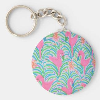 Porte-clés Porte - clé de partie de jungle de flamant
