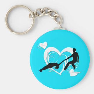 Porte-clés Porte - clé de patinage de paires - turquoise