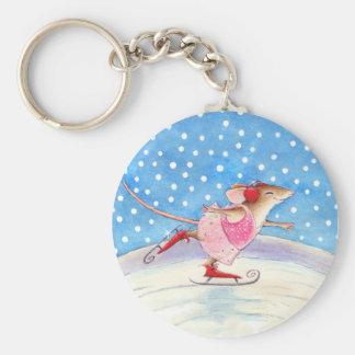 Porte-clés Porte - clé de patinage de souris