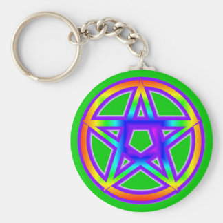 Porte-clés Porte - clé de pentagone étoilé d'arc-en-ciel
