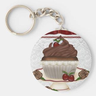 Porte-clés Porte - clé de petit gâteau de cerise de chocolat