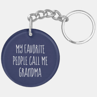 Porte-clés Porte - clé de photo de grand-maman - Grandkids