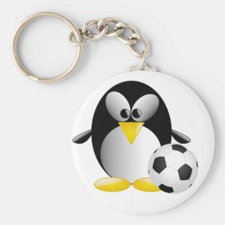 Porte-clés Porte - clé de pingouin du football