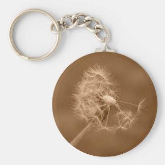 Porte-clés Porte - clé de pissenlit de sépia