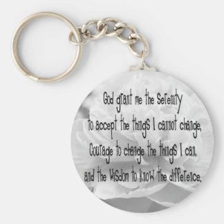Porte-clés Porte - clé de pivoine de prière de sérénité
