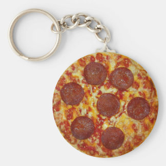 Porte-clés Porte - clé de pizza de pepperoni