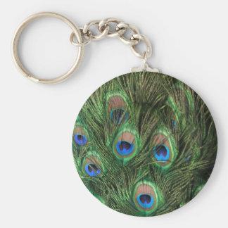 Porte-clés Porte - clé de plume de paon