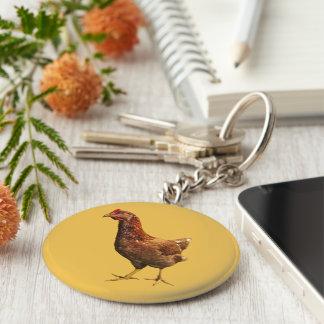 Porte-clés Porte - clé de poulet de poule de rouge d'île de