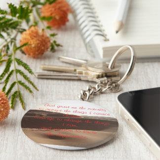 Porte-clés Porte - clé de prière de sérénité