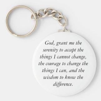 Porte-clés Porte - clé de prière de sérénité, simple et
