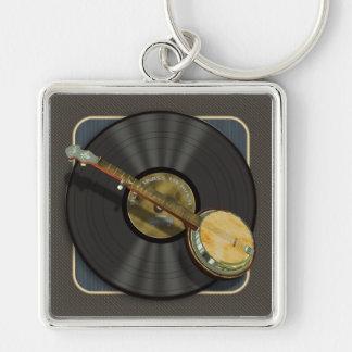 Porte-clés Porte - clé de prime de musique de banjo