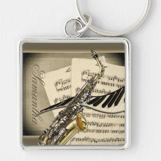 Porte-clés Porte - clé de prime de saxophone et de musique de