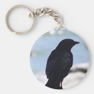 Porte-clés Porte - clé de profil de corneille