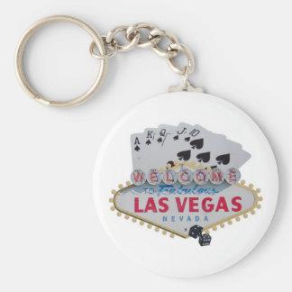 Porte-clés Porte - clé de quinte royale de Las Vegas avec