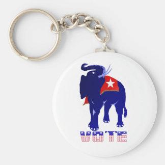 Porte-clés Porte - clé de républicain de vote