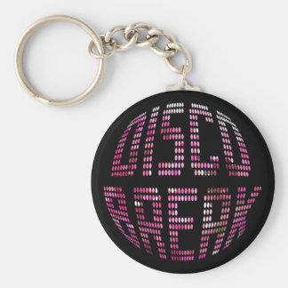 Porte-clés Porte - clé de rose de coupure de disco