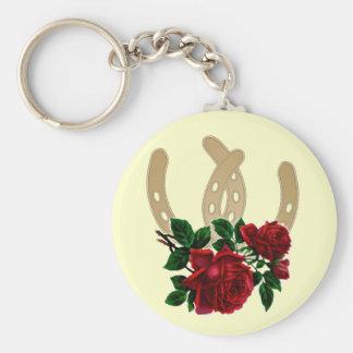 Porte-clés Porte - clé de roses rouges et de chaussures de
