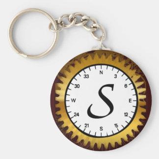 Porte-clés Porte - clé de rouages de la lettre S