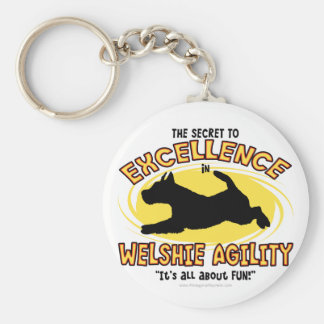 Porte-clés Porte - clé de secret de gallois Terrier d'agilité