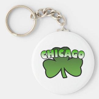 Porte-clés Porte - clé de shamrock de Chicago