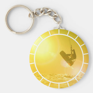 Porte-clés Porte - clé de silhouette de kitesurf