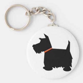 Porte-clés Porte - clé de silhouette de noir de chien de