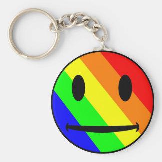 Porte-clés Porte - clé de smiley d'arc-en-ciel