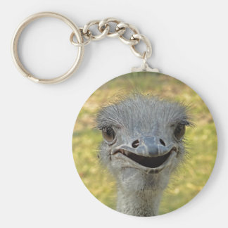 Porte-clés Porte - clé de sourire d'autruche
