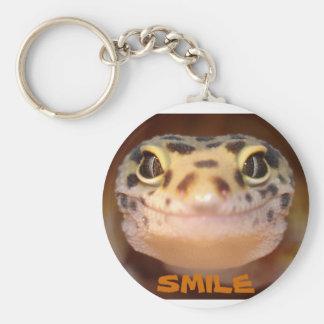 Porte-clés Porte - clé de sourire de Gecko de léopard