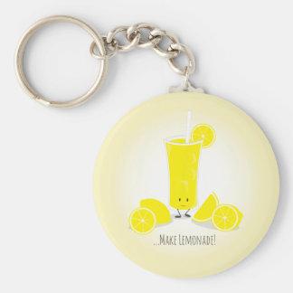 Porte-clés Porte - clé de sourire en verre | de limonade