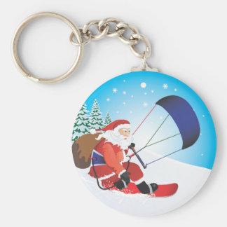 Porte-clés Porte - clé de surf des neiges de Père Noël