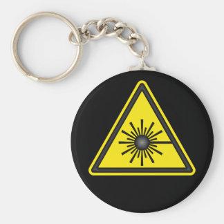 Porte-clés Porte - clé de symbole d'alerte laser
