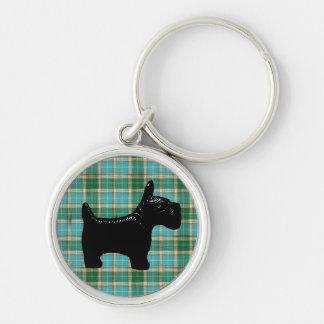 Porte-clés Porte - clé de tartan de chien de Scotte