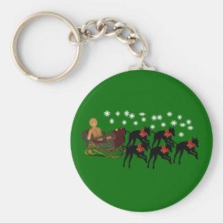 Porte-clés Porte - clé de vacances de Sleigh de lévriers de