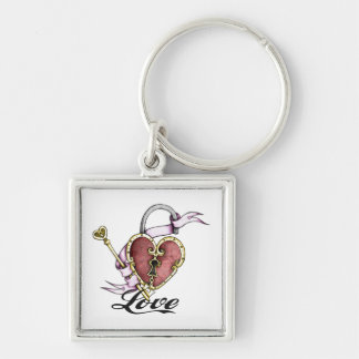 Porte-clés Porte - clé de Valentine de tatouage de serrure de