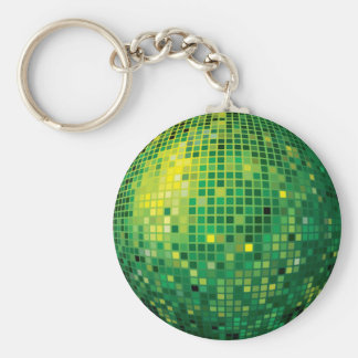 Porte-clés Porte - clé de vert de boule de disco