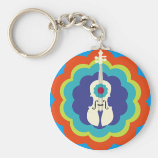 Porte-clés Porte - clé de violon -- éclat de couleur 60s