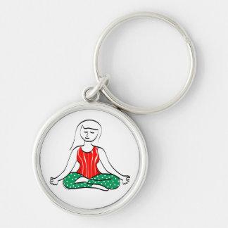 Porte-clés Porte - clé de yoga de Noël