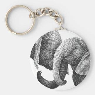 Porte-clés Porte - clé d'éléphants africains