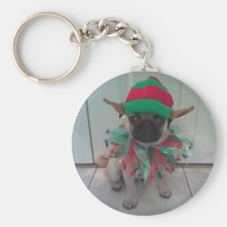 Porte-clés Porte - clé d'Elf de carlin de chiot