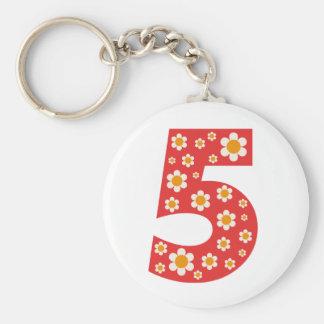 Porte-clés Porte - clé délicieux du numéro 5 de marguerites