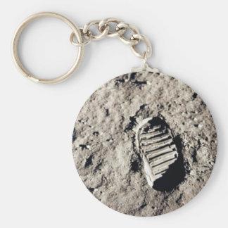 """Porte-clés Porte - clé """"d'empreinte de pas de lune"""""""