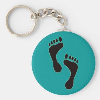 Porte-clés Porte - clé d'empreintes de pas