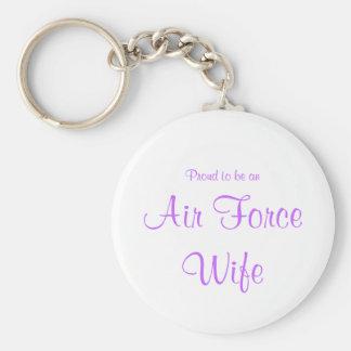 Porte-clés Porte - clé d'épouse de l'Armée de l'Air (lavande)