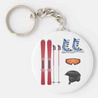 Porte-clés Porte - clé d'équipement de ski
