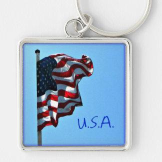 Porte-clés Porte - clé des Etats-Unis de drapeau américain