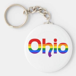 Porte-clés Porte - clé des textes d'arc-en-ciel de LGBT Ohio
